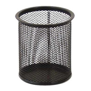 Čaša za olovke metalna okrugla