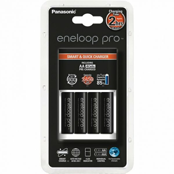 Punjač baterija ENELOOP PRO SMART brzi, 4xAA