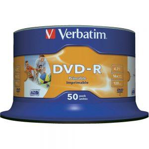 DVD R Verbatim 16x Print Spindle ,komad