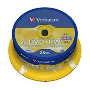 DVD RW Verbatim spindle tisak 4x , komad