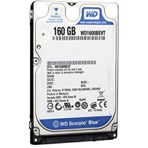 Western Digital WD1600BEVT 160 GB 5400RPM SATA 8 MB 2.5-Inch Notebook Hard Disk