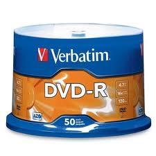 DVD-R Verbatim 16x Tisak Spindle ,komad
