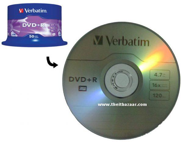 DVD R Verbatim 16x Tisak Spindle ,komad
