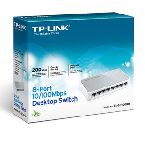 Switch TP-Link TL-SF1008D, 8x10/100Mbps