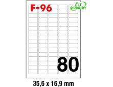 Papir Fornax F-96 nalj bijela perf 35,6x16,9mm, 100/1